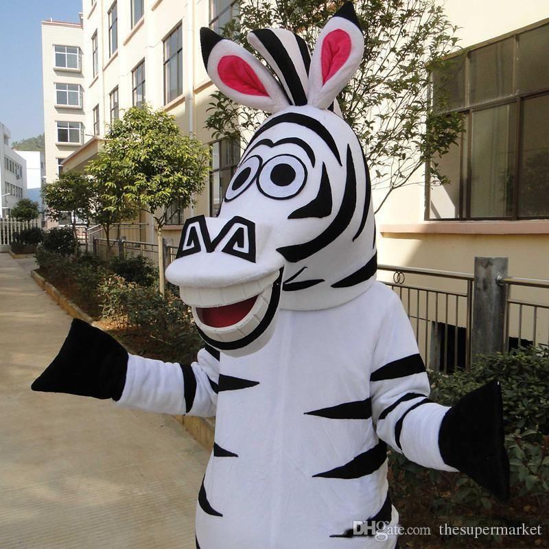 Madagascar Zebra Mascot Cartoon Animal Mascot Costumes Halloween Costume Fancy Dress Adult Size High Quality Full Mascot Costumes Buy Mascot Costume From ... & Madagascar Zebra Mascot Cartoon Animal Mascot Costumes Halloween ...