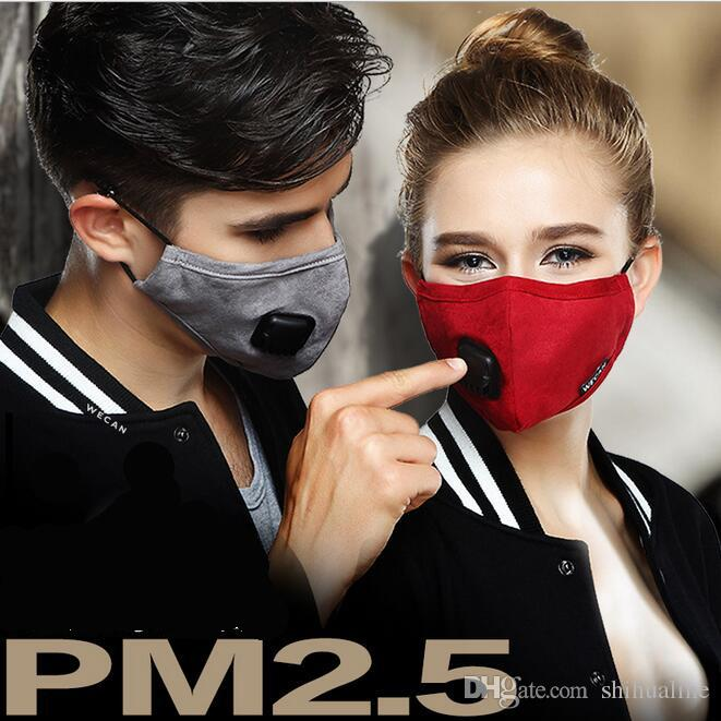 Health Care Anti Dust Pm2.5 Mask Breathable Warm Mouth Masks With Double Filter Breathing Valve Suit For Women And Men Anti-fog Respirator