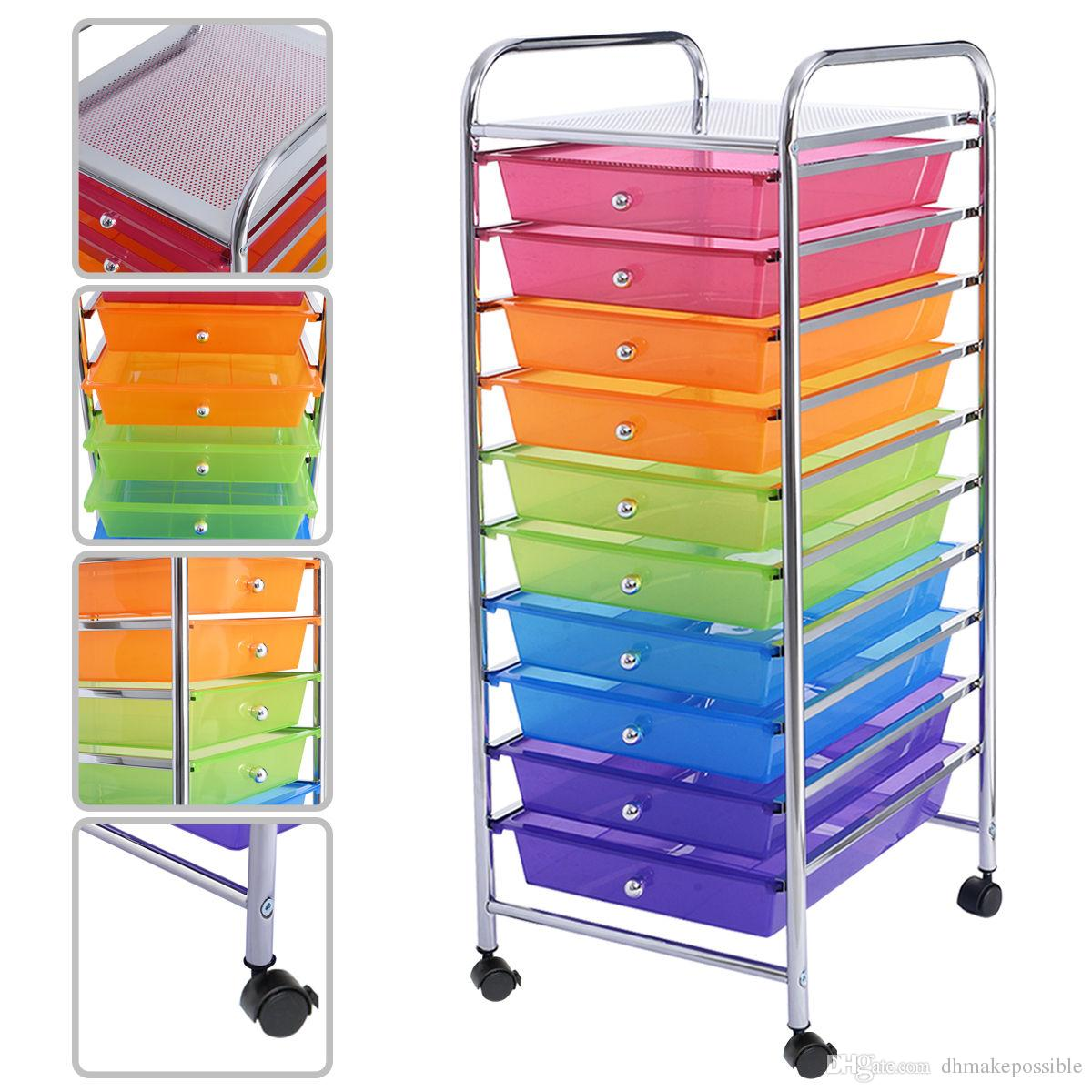 Incroyable 10 Drawer Rolling Storage Cart For Scrapbook Paper In Office School  Organizer Paper Storage Rolling Cart Online With $34.26/Piece On  Dhmakepossibleu0027s Store ...