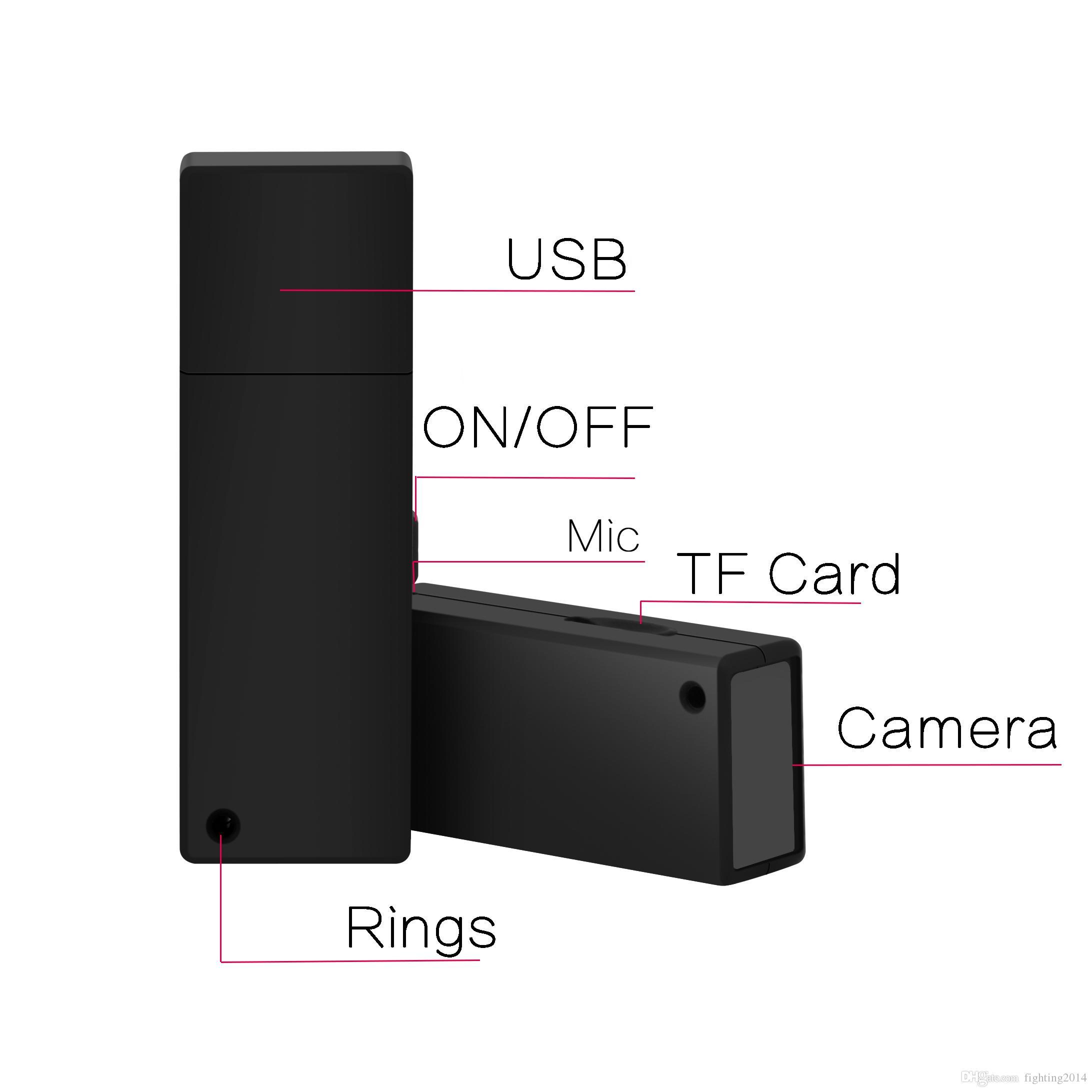 1080P USB Disk camera nonporous Full HD mini DV USB Flash Drive Mini audio video recorder U Disk DVR
