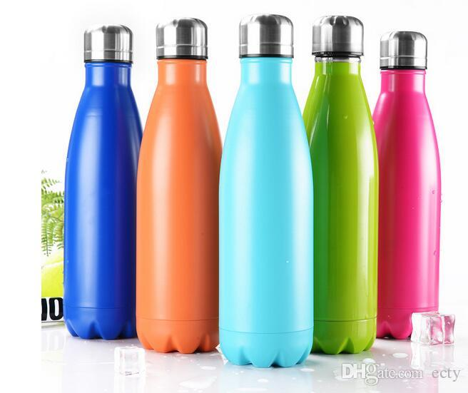 17oz 500ml Cola Shaped Bottle Insulated Double Wall Vacuum high-luminance Camping Water Bottle Creative Thermal Insulation bottle Coke Cup