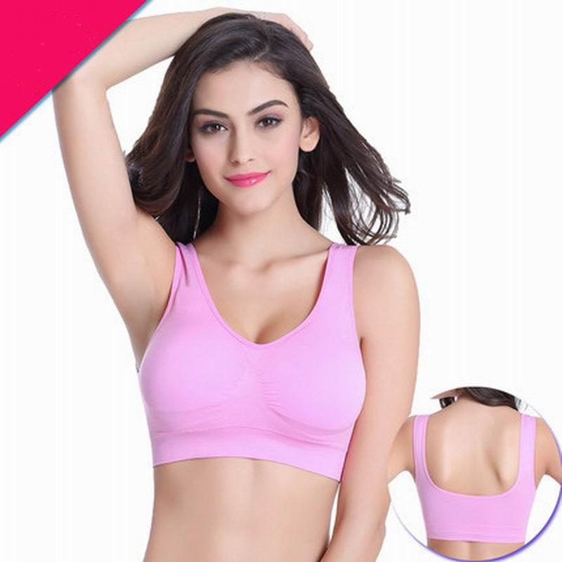 2019 2017 New Sport Bra Pattern Ports Women Stretch Seamless Fitness Yoga  Padded Sports Fashion Single Layer Bra Gym Padded Cup From Fashionwest 054dcc63e