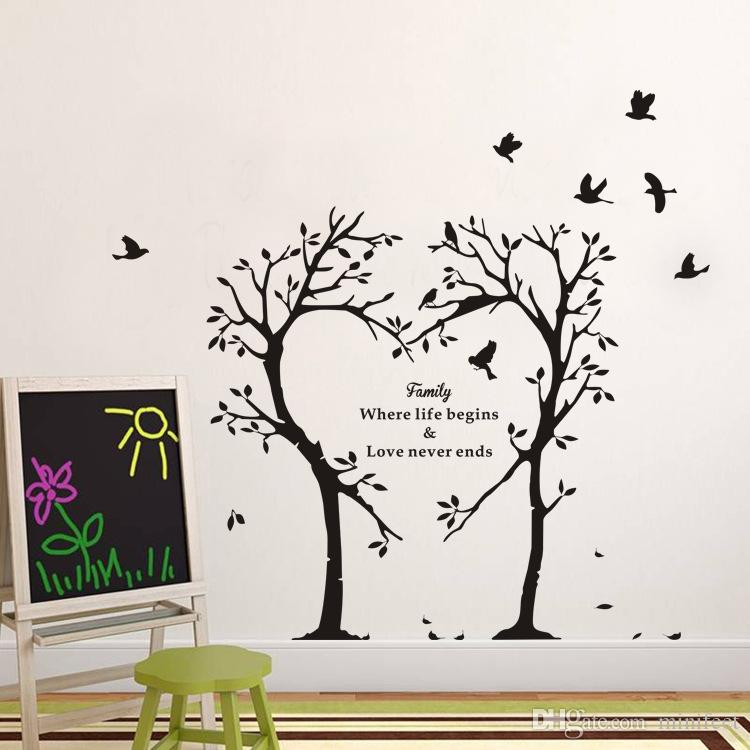 Family Tree Wall Stickers Creative Love Letters Pvc
