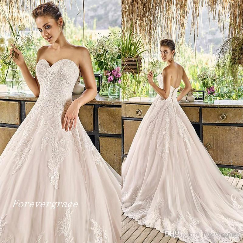 Discount Vintage Cheap A Line New Designer Wedding Dress High ...