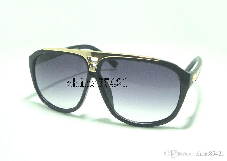 1 قطع رجل إمرأة نظارات دليل نظارات الشمس مصمم أسود إطار نظارات نظارات تأتي مع القضية و تنظيف القماش