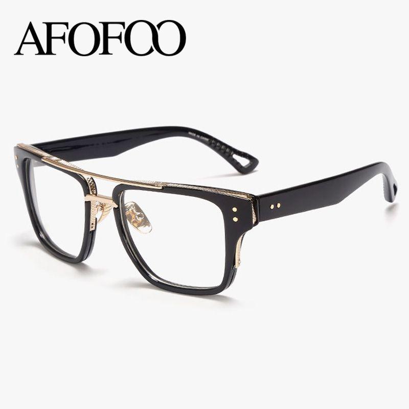 d04529b3a31 Wholesale- AFOFOO New Fashion Eye Glasses Frame Brand Designer Women ...