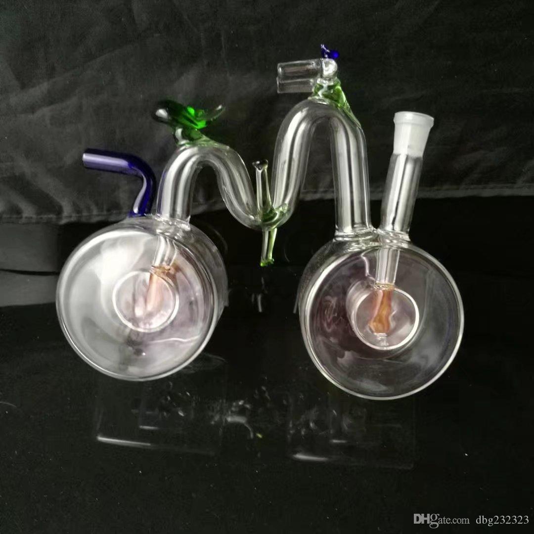 Велосипед кальян стеклянные бонги аксессуары , стеклянные курительные трубки красочные мини многоцветные ручной трубы Лучшая ложка стеклянная труба