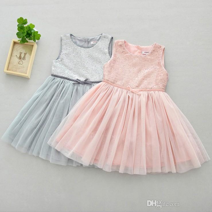 99a23a282858b Baby Mädchen Sommer Pailletten Kleid Mädchen Tutu Röcke Kinder Sommerkleid  Kinder schöne Kleider Top-Qualität mit dem besten Preis