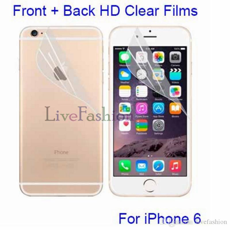 Ultra-thin Cell phone Clear Protector Anti-Glare Films Membrane Anti-Scratch For iPhone X 8 7 6s plus 5S Screen Front Back Protective film