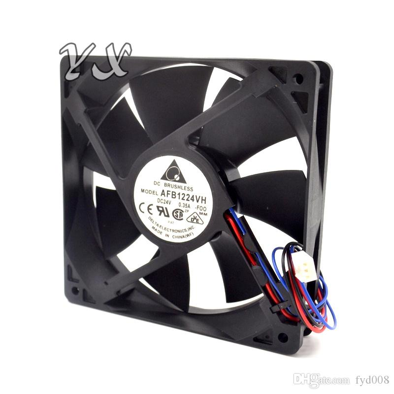 Nueva AFB1224VH-FOO 12cm 24V 0.35A 12025 de gama alta impulsión dual de la fan del rodamiento de bolitas para DELTA 120 * 120 * 25m m