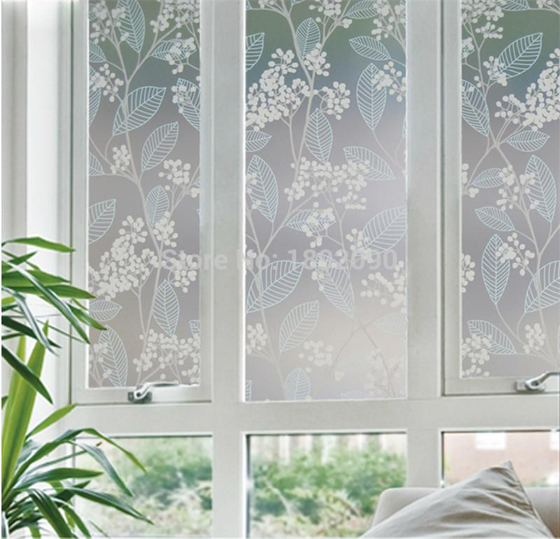 60*200cm Privacy Stained Decorative Window Film Opaque Glass Sticker Pegatinas Para Ventanas Privacidad Green&Red Office HQ Girl Wallpapers Girls Wallpaper ...