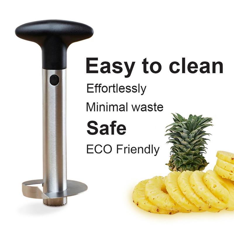 Meyve Ananas Tart Dilimleme Soyucu Kesici Parer Bıçak Mutfak aletleri Gadget ücretsiz yudumlarken