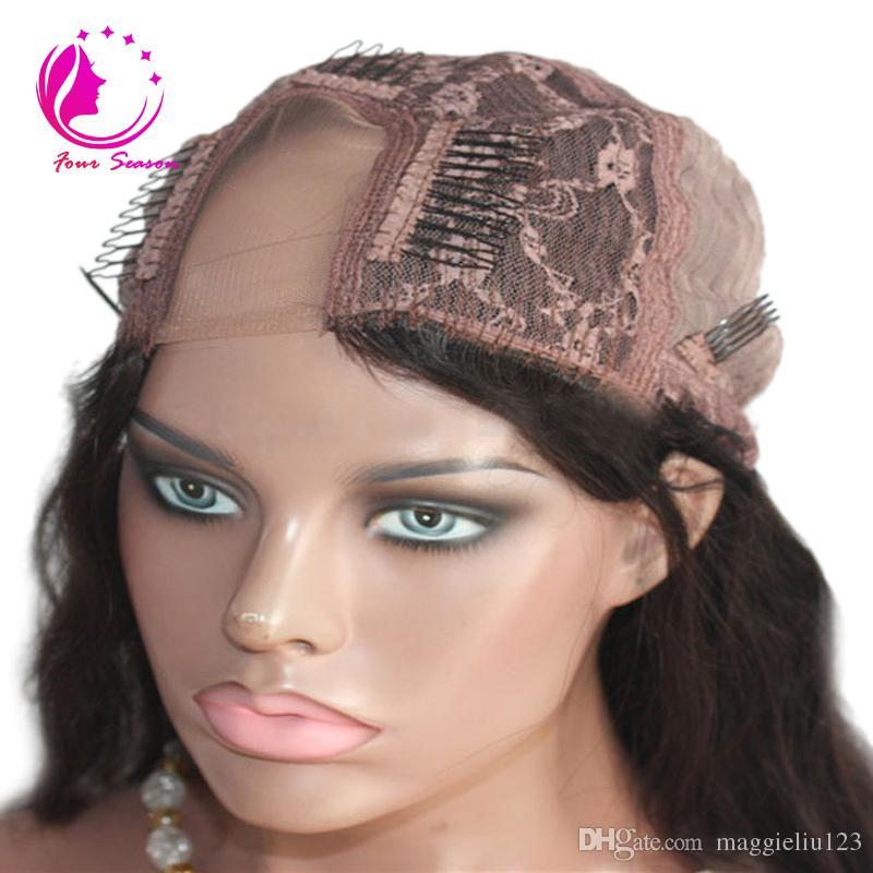 Brezilyalı bakire sapıkça kıvırcık insan saçı peruk 100% işlenmemiş insan saçı upart siyah kadınlar için peruk ile peruk bebek saç orta / yan bölüm
