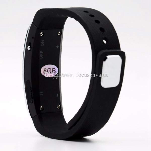 Bracelet Digital Voice Recorder Wearable Wristband 8GB Sport Voice Recorder Mini MP3 Sound Dictaphone Audio Recorder