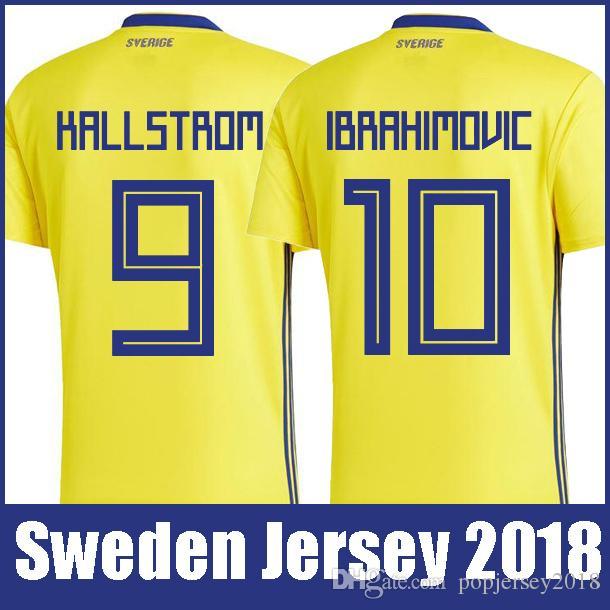 2019 Top Thailand Quality National Sweden Soccer Jerseys 2018 World Cup  IBRAHIMOVIC KALLSTROM FORSBERG Jersey Football Soccer Shirt Camisetas From  ... c7054a8b1