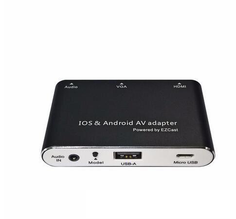 OLEEDA 1080P Digital AV Adapter USB to HDMI/VGA/Audio Converter for iPhone 6 6s 7 iPad Samsung Galaxy S8 IOS Android Phone