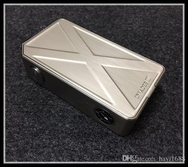 Tesla Invader III 240W Boîte Mod Invader 3 Mods Vape Cigarette électronique adapter 18650 Batterie Clone 510 réservoirs de vaporisateur Atomiseurs RDA