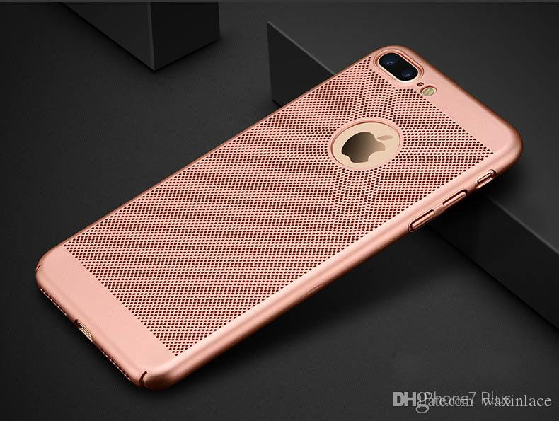 For Apple iPhone 6plus Breathing Cooling Net Phone Case For iPhone 6s 7 Plus SE PC Hard Ultra Thin Shockproof Back Covers Shell