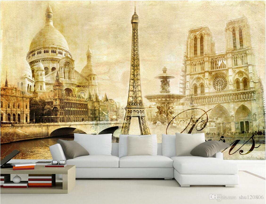 3d room wallpaper custom photo mural european paris eiffel tower 50