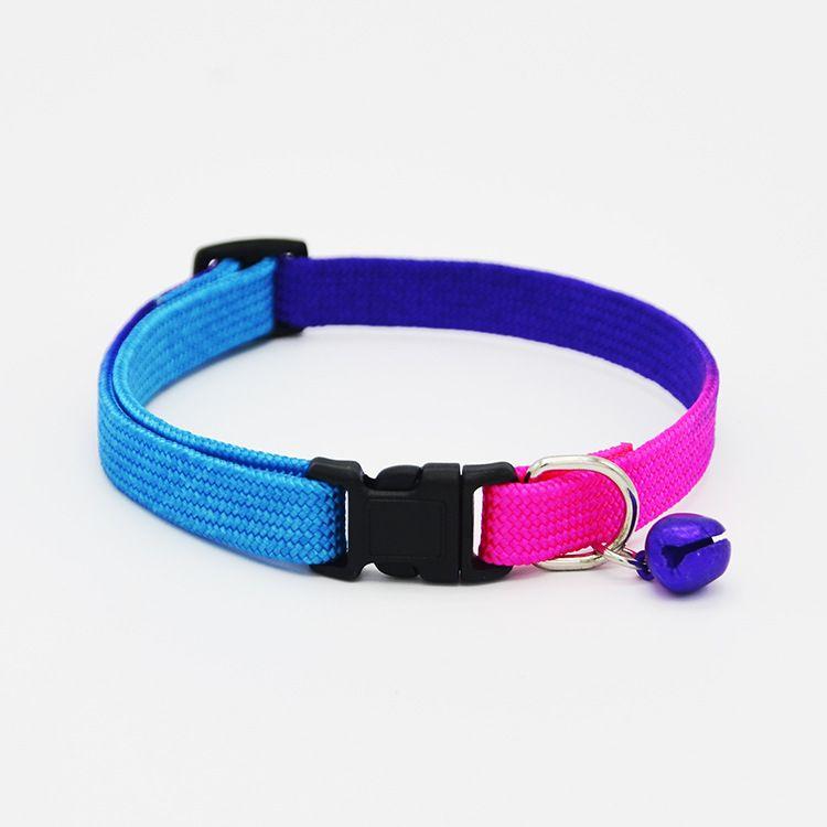 Arcobaleno cani Gatto collare regolabile Collari animali domestici confortevoli cani di piccola taglia Cuccioli di animali Collari di sicurezza