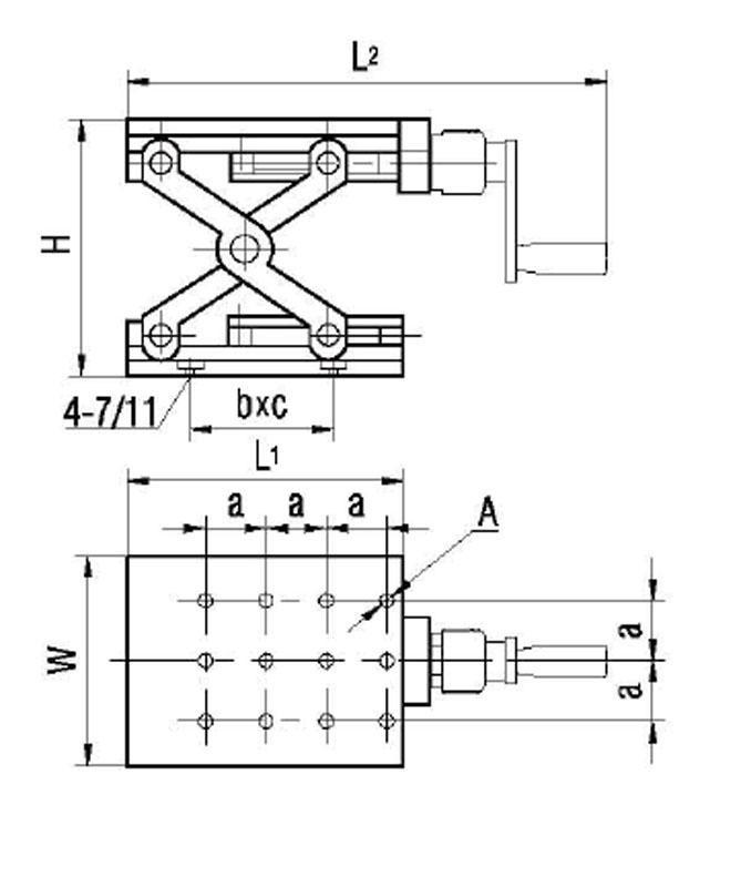 정밀 수동 리프트 Z 축 수동 랩 잭 수직 이동 스테이지 엘리베이터 광학 슬라이딩 리프트 94mm 이동 PT-SD1703M