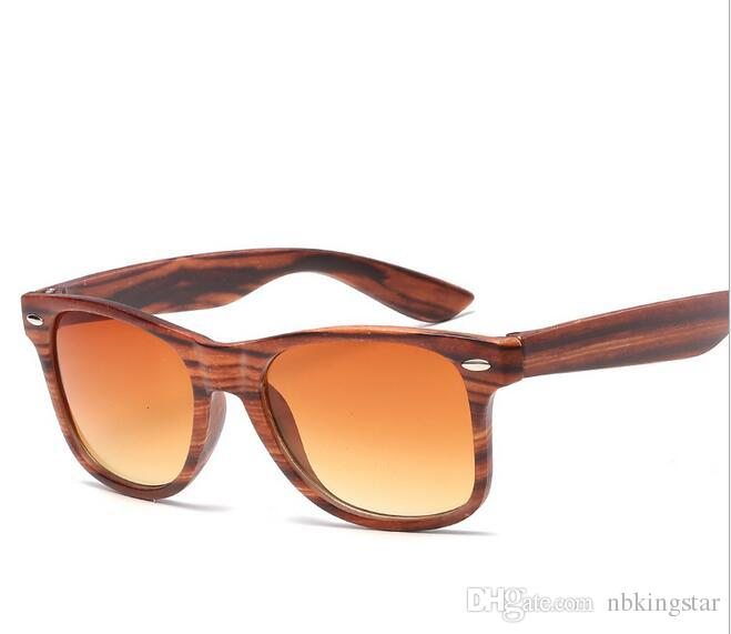 691feb34e939 Fashion Wood Grain Sunglasses Women Summer Style Vintage Sun Glasses ...