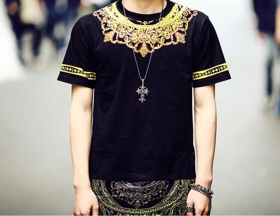Hot 2017 Fashion Korean Luxury Yeezus T Shirt Men 3d Mens Longline ...