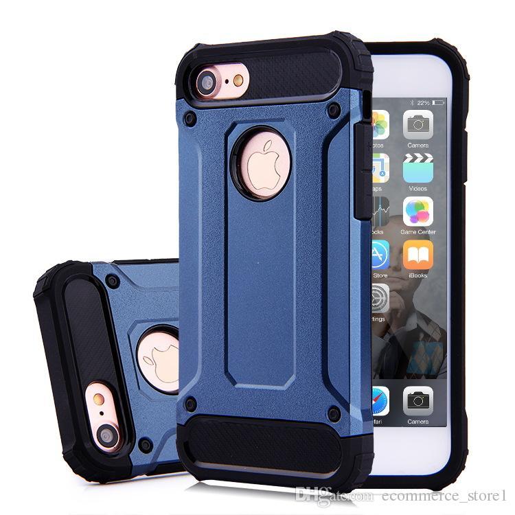 애플 아이폰 7 플러스 6 6S 삼성 갤럭시 S8 에지 플러스 S7 참고 8 강철 갑옷 TPU PC의 휴대 전화 커버 케이스