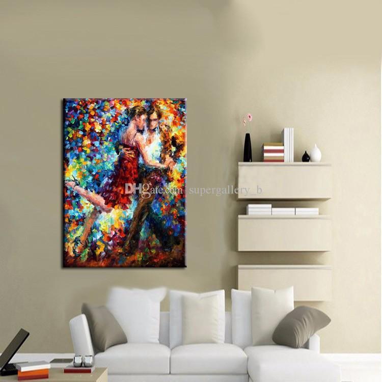 2018 Framed Tango Dancer Pure Handicrafts Modern Abstract Art Oil