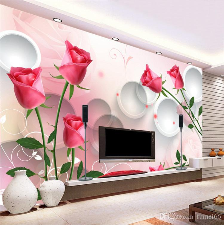 Special Large Fresco Simple Dream Warm Tulip Living Room Bedroom Wallpaper Flower Sofa Sofa Background Wallpaper Hd It Wallpapers Hd Pictures For