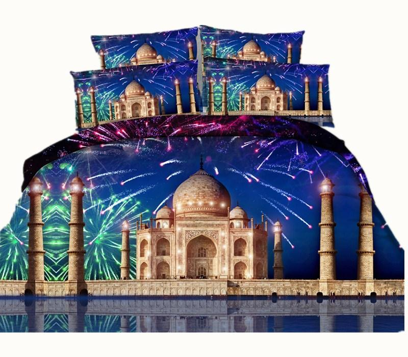 4 Styles Russian Castle 3D Printed Bedding Sets Twin Full Queen King Size Bedspreads Bedclothes Duvet Covers Firework Galaxy Stars 3/