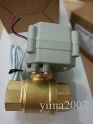 "Free ship 2 way brass shut off ball valve, 1/2"" BSP female thread, DC24V, CR701 wire control , A20 series grey actuator, without indicator,"