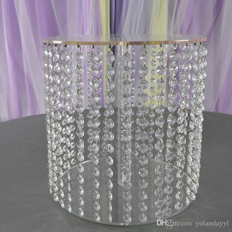 / acrylique cristal transparent perles gâteau stand stand pièce maîtresse mariage gâteau affichage d'anniversaire décoration