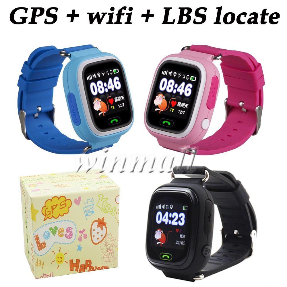 3f3146d399b Best Gift Q90 Kids Smart Watch Wifi + GPS tracker 1.22 Touch Screen  Smartwatch Anti Lost SE Tracker App