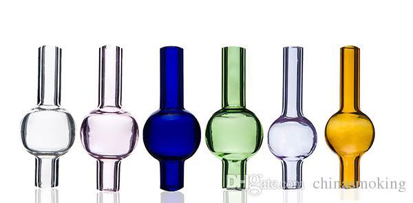 capuchon de carb de bulles de verre coloré Universal ronde dôme à billes OD de 20 mm pour 4 mm de quartz conduites d'eau de pétards thermique de verre clous, dab plates-formes pétrolières