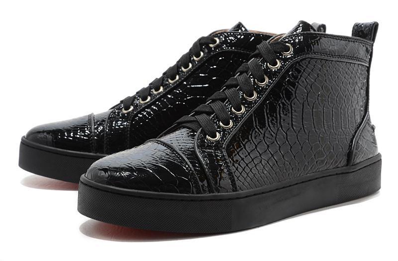 Unisex Lüks Mens Womens Casual Ayakkabı Leopar Snakeskin Kırmızı Alt Hakiki Deri balık tahıl Tuval Sneaker Lichee Desen Toka Kayış
