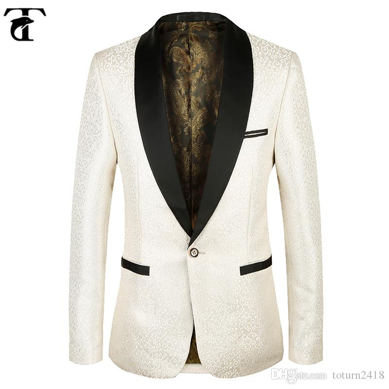 60 Blazer Men Champagne Floral Pattern Wedding Suit Toturn 60 Interesting Blazer Pattern