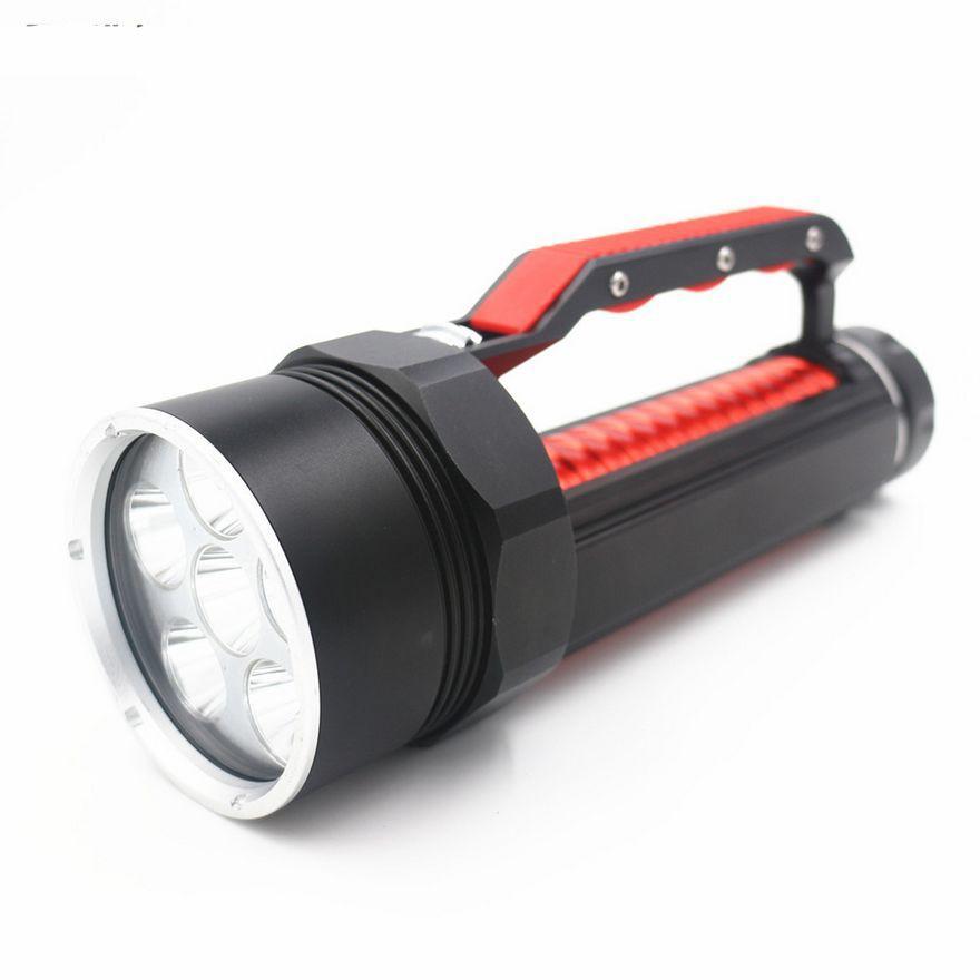 200m Underwater Scuba Diving 6x CREE XM-L2 T6 9000Lm LED Light Flashlight Torch Lamp Waterproof Diver Lamp Lanterns