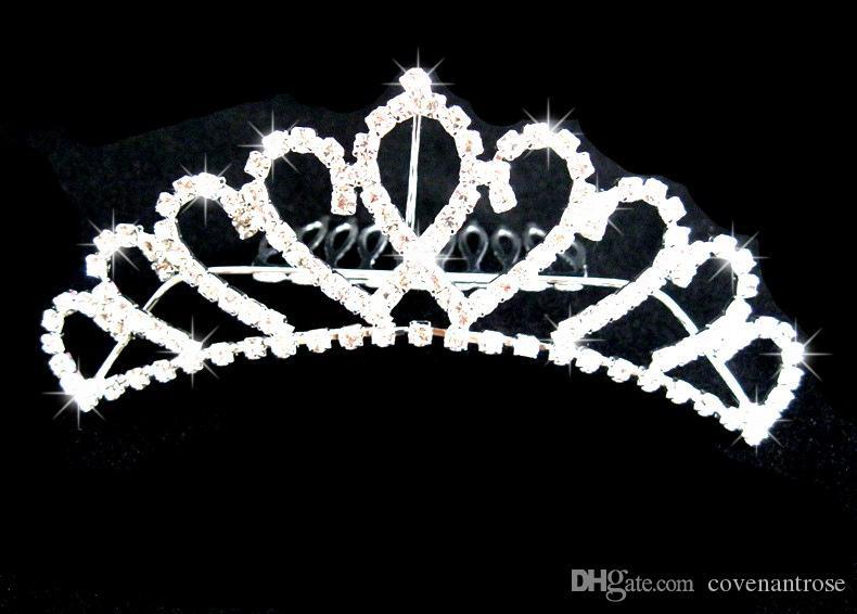 Glänzende Diademe Kronen Schatz Strass Sparkle Hochzeit Braut Tiara Crown Queen Clip Frauen Kopfschmuck Günstige Hochzeit Zubehör