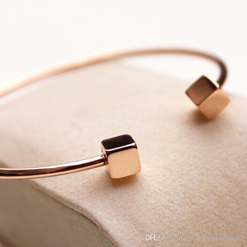 New Design Rose Gold Color cuff Bracelets & Bangles Jewelry Bracelet stainless steel jewelry wholesale for women