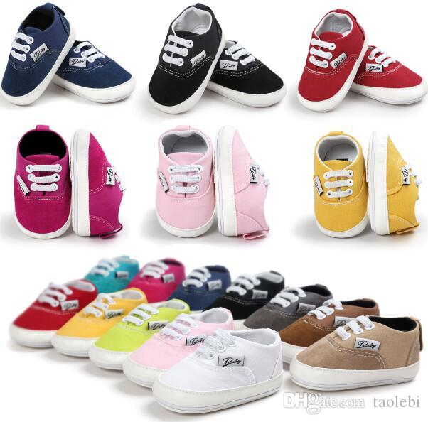 97ccbc2fc6173 2019 Retail Rubber Soled Baby Causal Shoes Baby Girl Boy First Walkers  Comfortable Rubber Soled Toddler Shoes Top Quality Many Colors For Choose  From ...
