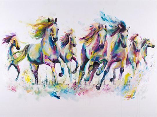 Modern Art Horses Oil Painting