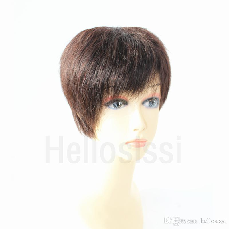 100 Human Hair Wigs Brazilian Bob Style Short Half Wigs Hairstyles Cut Full lace Pixie human Hair wigs for Black Women Hot Selling