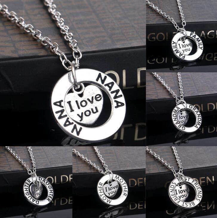 Qualität, die Hauptpfirsichherz-hängende Halskette WFN033 mit Kette verkauft Mischungsauftrag 20 Stücke viel