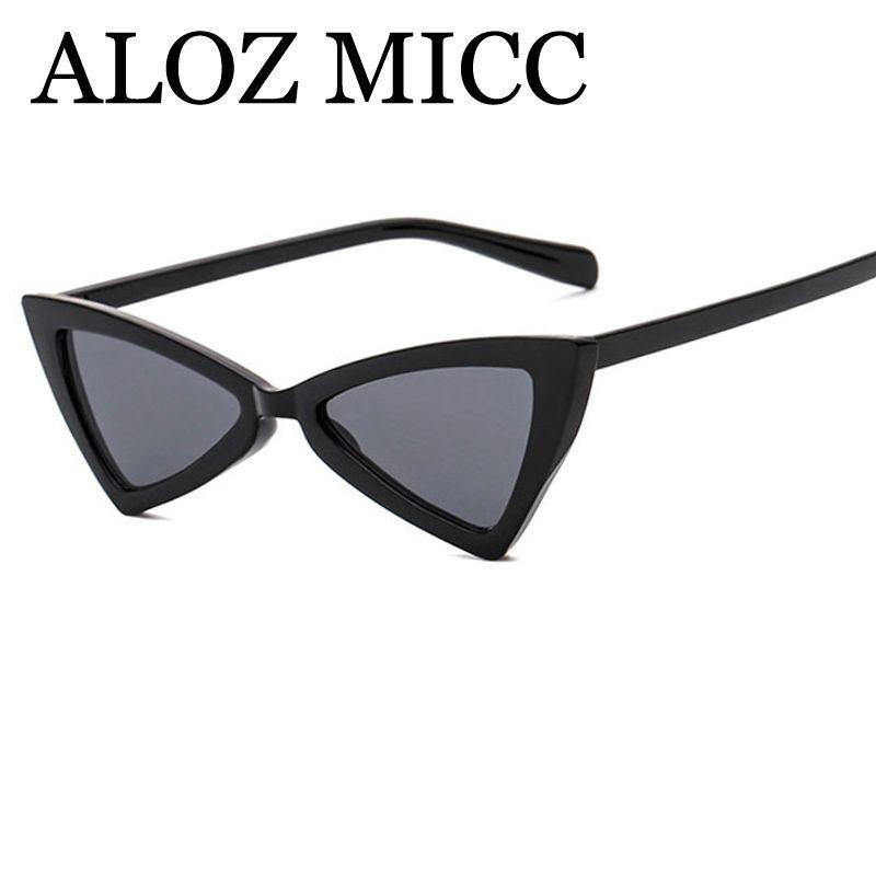 e8a8c5af9146c ALOZ MICC Luxury Bowknot Triangle Sunglasses Women Fashion Cat Eye Lady Sun Glasses  Brand Designer Small Frame Eyewear A395 Sunglasses For Men Prescription ...