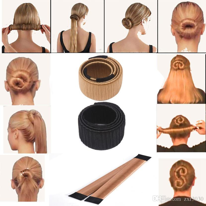 Fashion Girl french hair clip DIY hair care Styling tools Donut Former Foam French Twist Magic Bun Maker