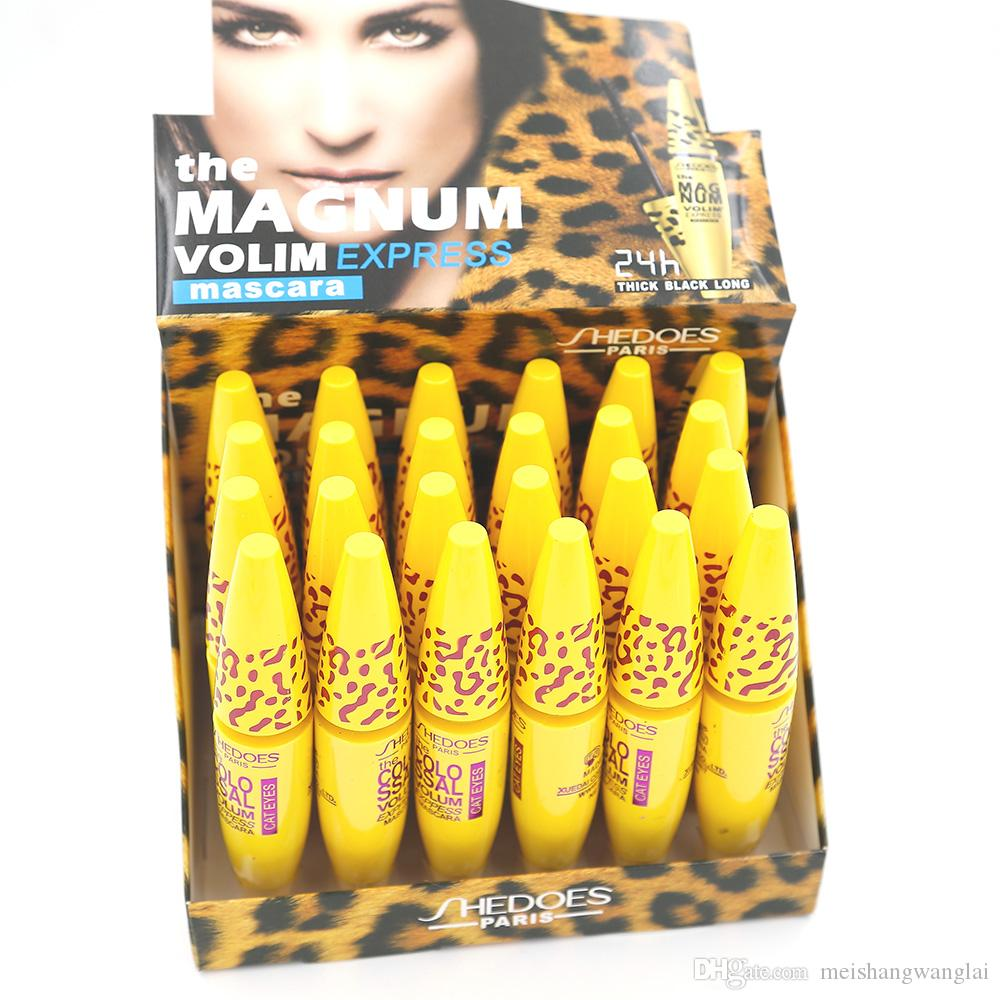 Mascara Makeup Easy 24 pcs/lot Mascara Ultra-Volumateur Waterproof Freefiber Vltamln-e Long Lasting Thick Black 8217