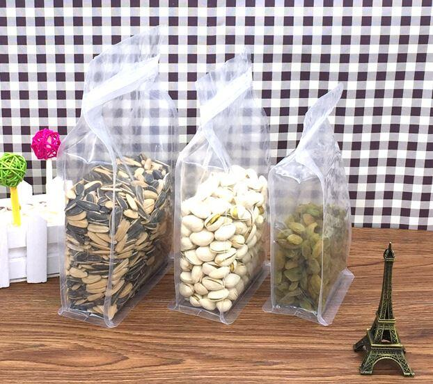 Qin 12 14 plastic packaging bag zip lock , clear stand up zip lock plastic  bag,resealable zip lock bag for food