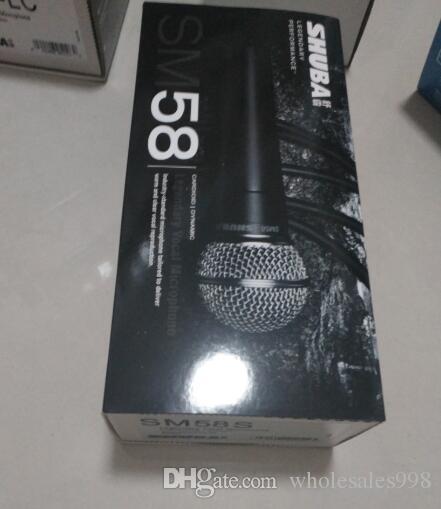 Ücretsiz kargo Orijinal SHUBA sm58s kablolu bilgisayar mikrofon ağ anahtarı kapalı / enstrüman kayıt vokal mikrofon