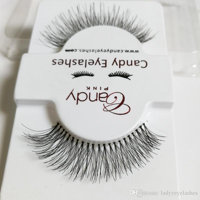 silk False Eyelashes Fashion Lash Black Strip Fake Lashes faux human hair false lashes Natural Thick Soft Fake Eyelashes for Party and Daily